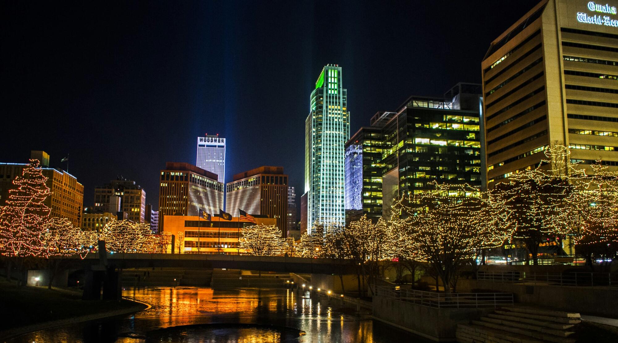 Omaha's Holiday Framed